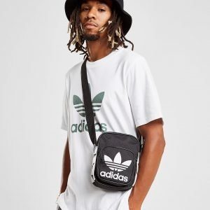 Adidas Originals Mini Tape Crossbody Bag Olkalaukku Musta