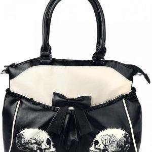 Banned Skulls & Roses Käsilaukku