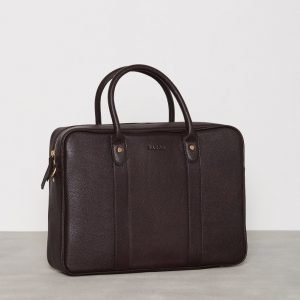 Baron Leather Computer Tote Brown Tietokonelaukku Brown