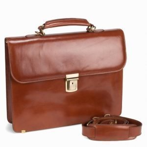 Baron Small Briefcase Tietokonelaukku Cognac