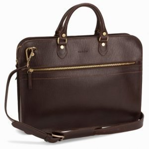 Baron Small Zip Briefcase Salkku Brown