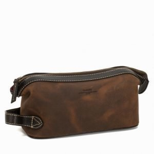 Baron Toilet Bag Suede Toilettilaukku Brown