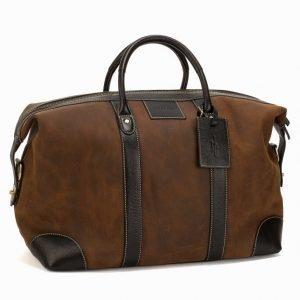Baron Weekend Bag Suede Viikonloppulaukku Brown