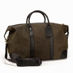 Baron Weekend Bag Suede Viikonloppulaukku Green