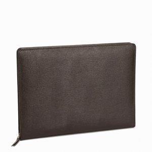 Baron Zip Folder Leather Tietokonekotelo Brown