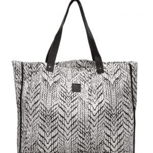 Black Lily Paige Beach Canvas Bag