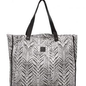 Black Lily Paige Beach Canvas Bag