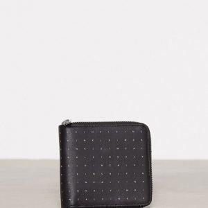 Calvin Klein Calvin Grid 4cc Zip Around Lompakko Musta