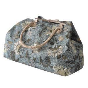 Ceannis Flower Linen Weekend Bag Viikonloppulaukku Sininen