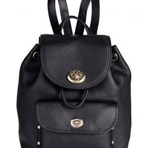 Coach Pebble Mini Turnlock Rucksack Nahkareppu
