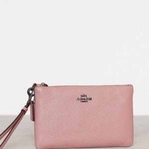Coach Polished Pebble Small Wristlet Iltalaukku Dusty Rose