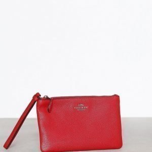 Coach Small Wristlet Iltalaukku Silver / Red