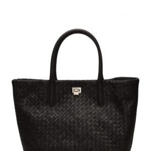 Decadent Woven Big Tote With Buckle