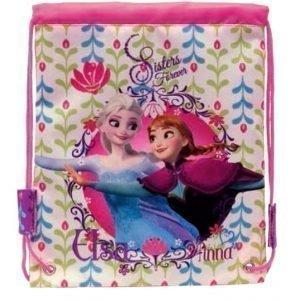 Disney Frozen Frost Jumppapussi med Anna Elsa Gymnastikpåse