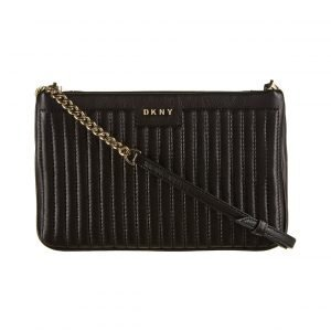 Dkny Gansevoort Pinstripe Quilted Mini Double Compartment Crossbody Nahkalaukku