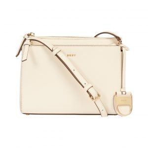 Dkny Hardware Cross Hatch Double Zip Nahkalaukku