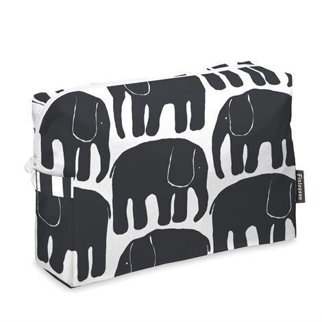 Finlayson Elefantti Toilettilaukku Musta-Valkoinen