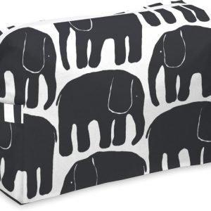 Finlayson Toilettilaukku Elefantti Musta/valkoinen