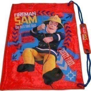 Fireman Sam Brandman Sam badpåse/ jumppapussi gymnastikpåse röd