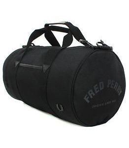 Fred Perry Nylon Barrel Bag Black