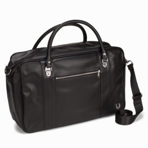 Fred Perry Texture Overnight Bag Viikonloppulaukku Musta