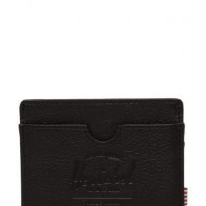 Herschel Charlie Leather Black Pebble Leather lompakko