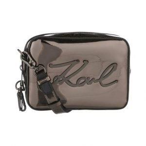 Karl Lagerfeld Signature Gloss Camera Bag Laukku