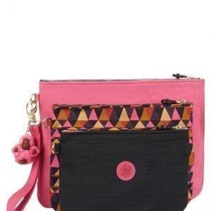 Kipling Meikkilaukku 3 / P Pinkki / Monivärinen / Musta