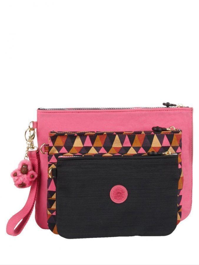 Kipling Meikkilaukku 3   P Pinkki   Monivärinen   Musta ... eb1a3e0f2a