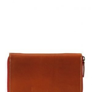 Knowledge Cotton Apparel Leather Zip Wallet lompakko