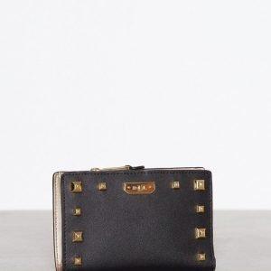 Lauren Ralph Lauren New Compact Wallet Lompakko Black / Gold