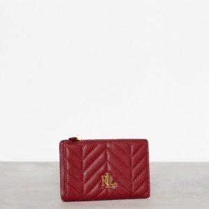 Lauren Ralph Lauren New Compact Wallet Lompakko Punainen