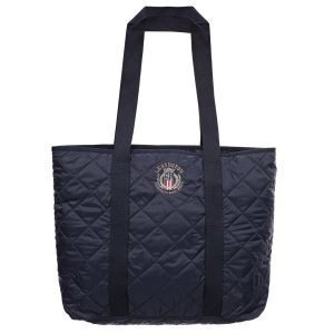 Lexington Kinner Quilted Tote Laukku Deep Marine Blue