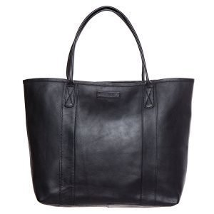 Lexington Mayflower Leather Tote Bag Nahkakassi Musta