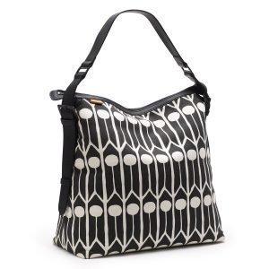 Littlephant Feathers Messenger Bag Lähettilaukku Musta / Valkoinen