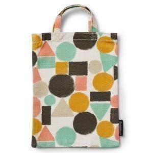 Littlephant Geometric Mini Shopper Ostoskassi Valkoinen / Multi