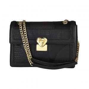 Love Moschino Flap Small Shoulder Snake / Croco Patchwork Laukku