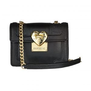 Love Moschino Mini Flap Crossbody Snake / Croco Patchwork Laukku