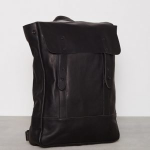 Lyle & Scott Leather Backpack Reppu Musta