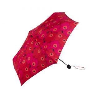 Marimekko Mini Unikko Mini Manuaali Sateenvarjo Punainen Tummanpunainen