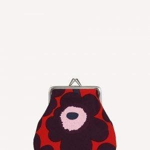 Marimekko Pieni Kukkaro Mini Unikko Punainen Luumu Vaaleanpunainen