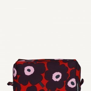 Marimekko Verso Mini Unikko Kosmetiikkalaukku Punainen Violetti Vaaleanpunainen