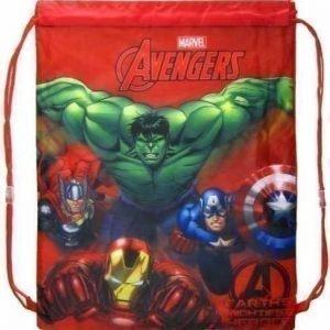 Marvel Avengers Jumppapussi Hulken Iron man mfl gymnastikpåse