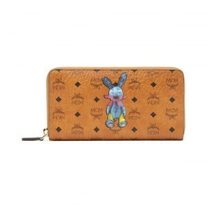 Mcm Rabbit Zip Around Wallet In Visetos Lompakko