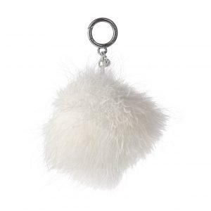 Michael Kors Charms Large Round Feather Pom Pom Laukkukoru