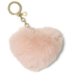Michael Kors Fur Heart Key Chain Laukkukoru