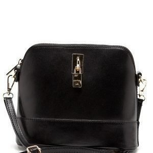 Mixed from Italy Cross Body Leather Bag Black
