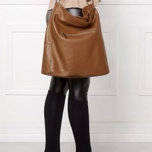 Mixed from Italy Hobo Leather Bag Dark Beige/Taupe