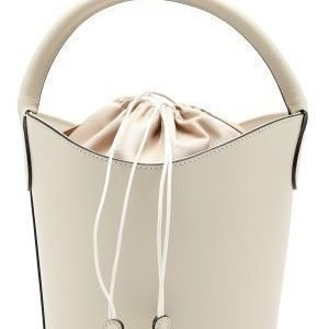 Mixed from Italy Leather Bucket Bag Beige