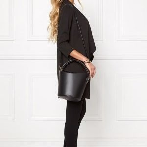 Mixed from Italy Leather Bucket Bag Black